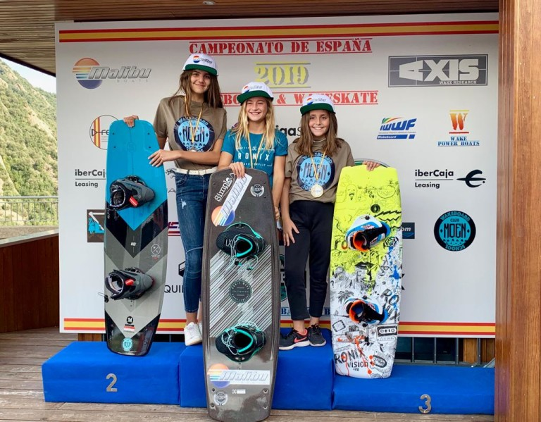 Campeonato de España de wakeboard 2019 chicas de menos de 14 años